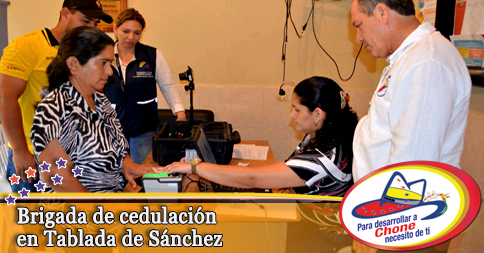 Brigada de cedulación en Tablada de Sánchez