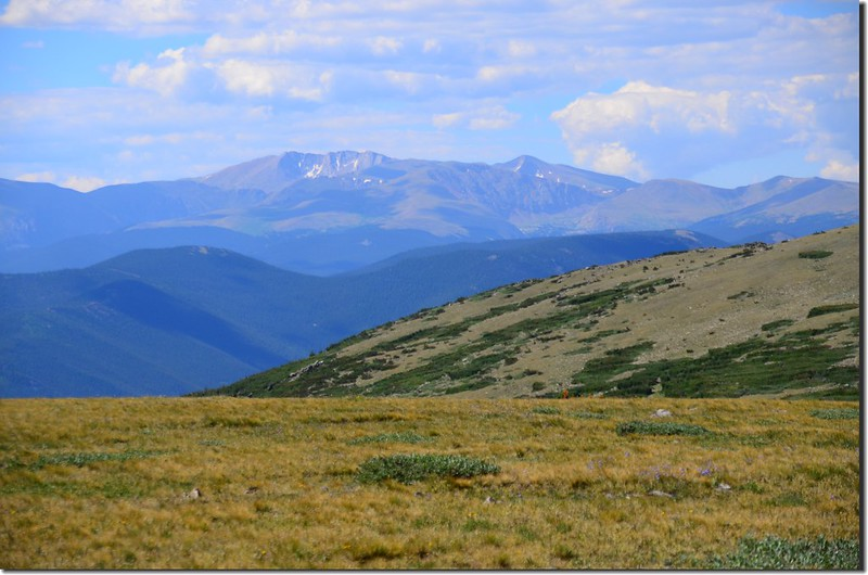Looking south at Mount Evans from the Tundra above the glacier