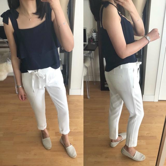 LOFT Slim Tie Waist Pants, size 24/00P