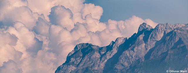 Wolken über dem Pilatus, Panasonic DMC-G6, LEICA DG 100-400/F4.0-6.3