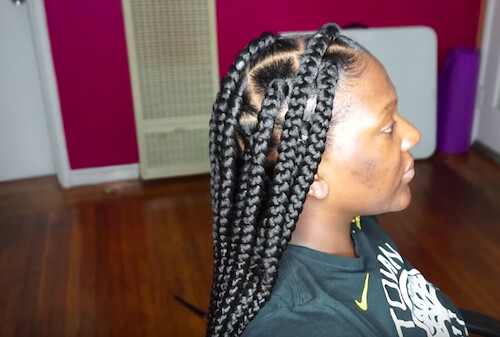jumbo box braids rubber bands30