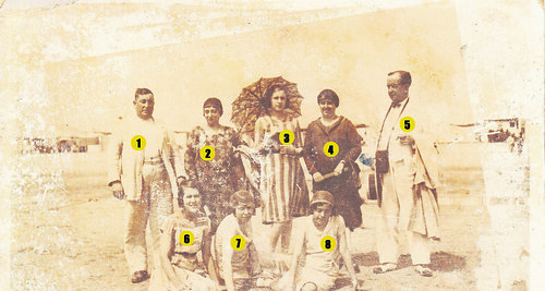 Foto de la Playa de Chipiona de 1930