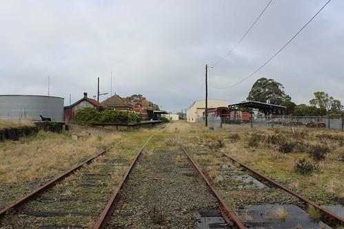 Looking south-east towards Korumburra Station