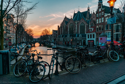 Atardecer Canal Amsterdam