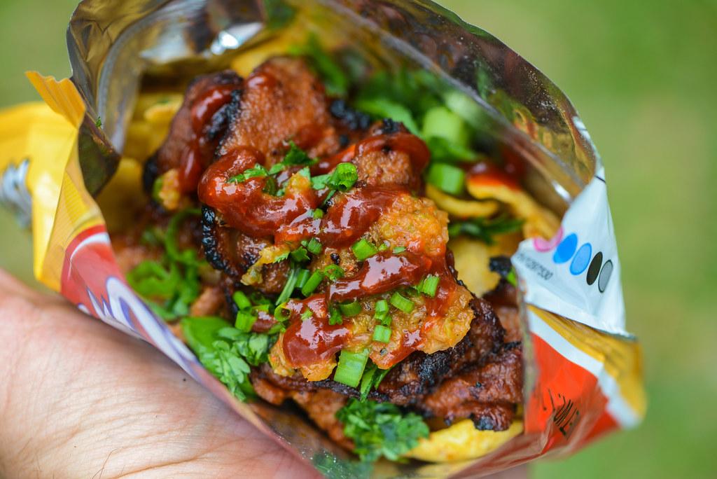 Korean Barbecue Spicy Pork Walking Tacos