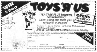 "Toys ""R"" Us Tea Tree Plus (02/09/1995 - 22/07/2018)"