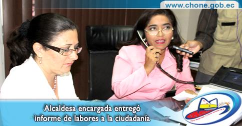 Alcaldesa encargada entregó informe de labores a la ciudadanía