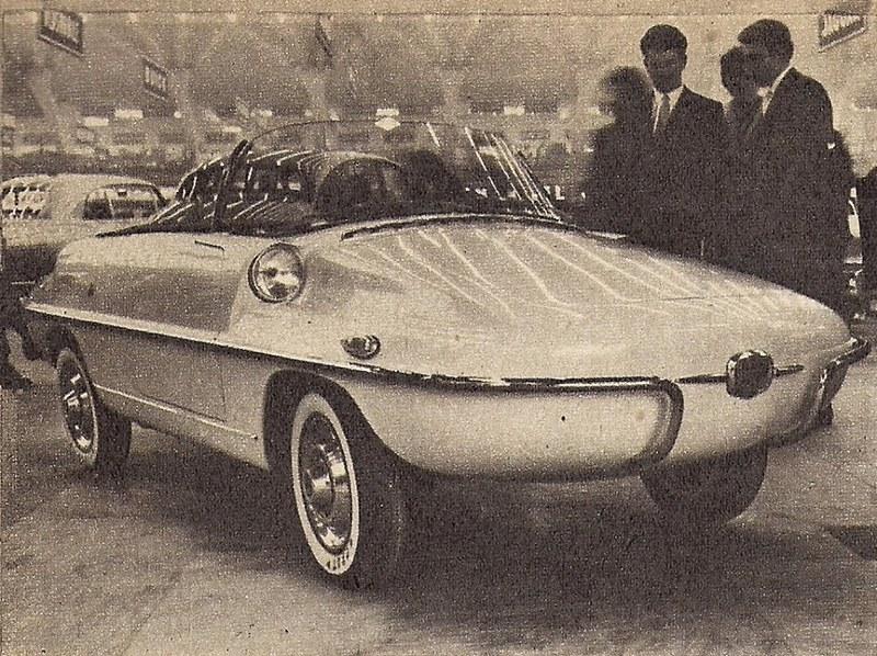 Salone di Torino 1958 la Fiat 500 spiaggina di Frua