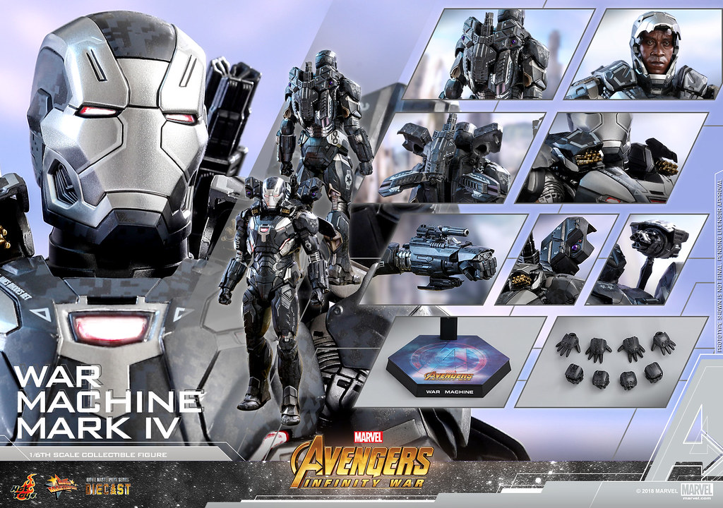 Hot Toys – MMS499D26 –《復仇者聯盟3:無限之戰》戰爭機器馬克4 War Machine Mark IV 1/6 比例合金人偶作品