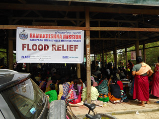 RKM Imphal Flood Relief Day on 26.06.2018 Wahengbam, Longjam, Thoudam & Thounaojam Leikais at Wangoi