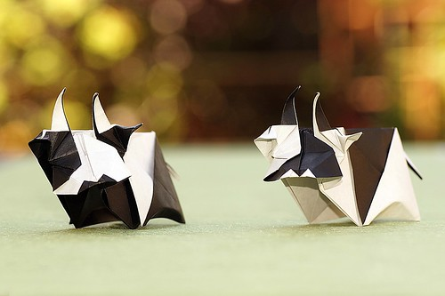 Origami Cow (Tsuruta Yoshimasa)
