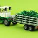 Green tractor by de-marco