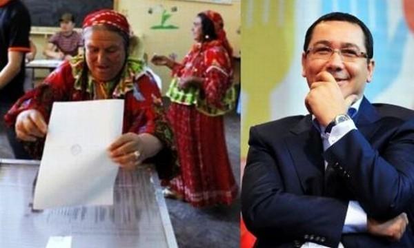 Victor Ponta votat de tigani