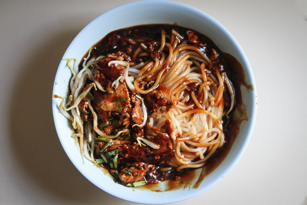 Toa Payoh Hwa Heng Beef Noodle Beef Noodle Dry (Top down)