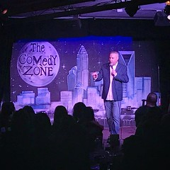 Great night laughing with (and at) @chrisruppecomedy at the @thecomedyzonecharlotte tonight. Also picked up an awesome package from @southtownwatersports in the silent auction. All proceeds from tonight went towards adoption. #adoption #comedy #thecomedyz