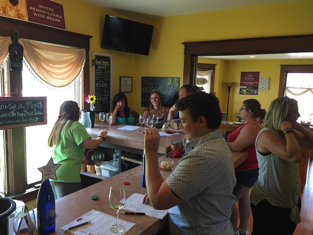 Presque Isle Wine Cellars Wine Tasting