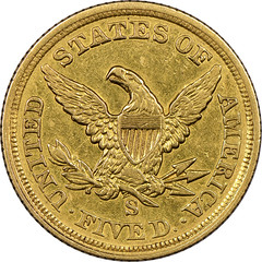 1854-S Half Eagle reverse