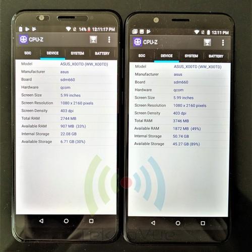 ASUS Zenfone Max PRo M1 VS