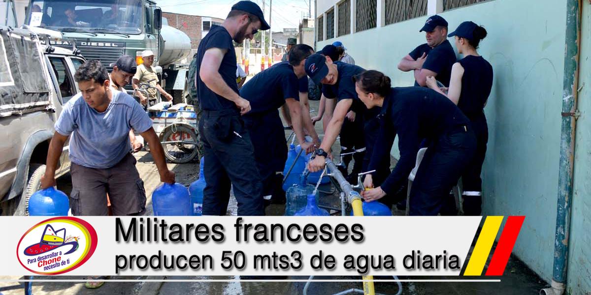 Militares franceses producen 50 mst3 de agua diaria