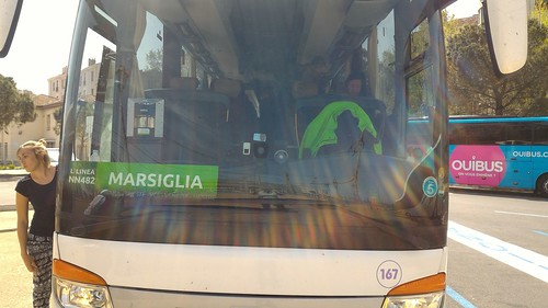 The FliXBUS from Torino to Marsiglia (Marseille), France