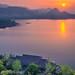 Sunrise over Qiandao lake, Zhejiang China by Feng Wei Photography