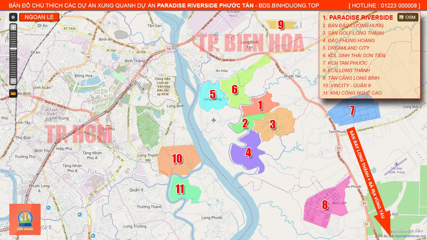 Bản đồ vị trí dự án Paradise Riverside