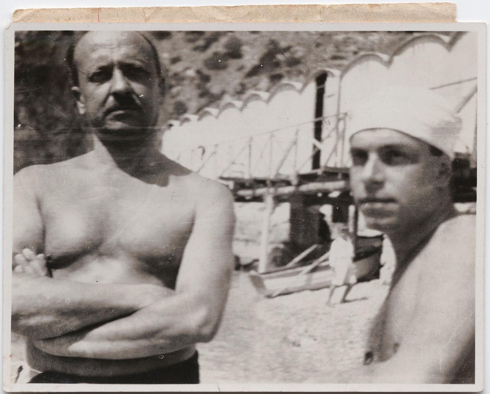 1930-е. Маринетти и аэрохудожник-футурист Энрико Прамполини на Капри