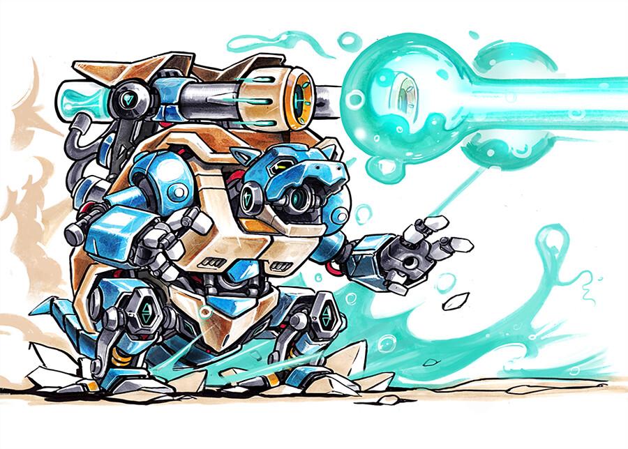 超級機械寶可夢大戰! 台裔設計師Madow Tsai 精彩打造【機械寶可夢】Mechamon