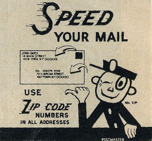 Mr. ZIP advertisement for ZIP Codes.