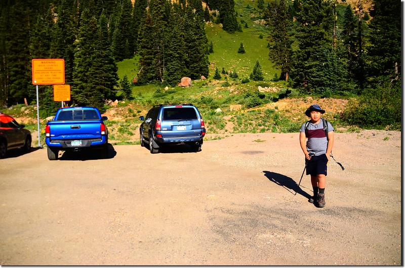 Parking lot of Berthoud Pass Ditch trail