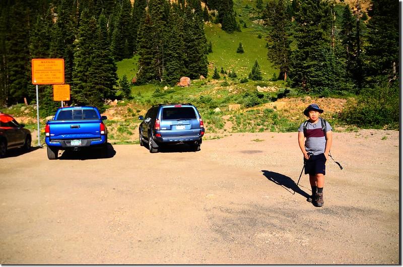 Parking lot of Berthoud Pass Ditch trail