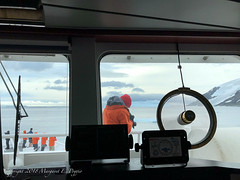 Watching Our Antarctic Departure Through Fridtjof Sound from the Ship's Bridge