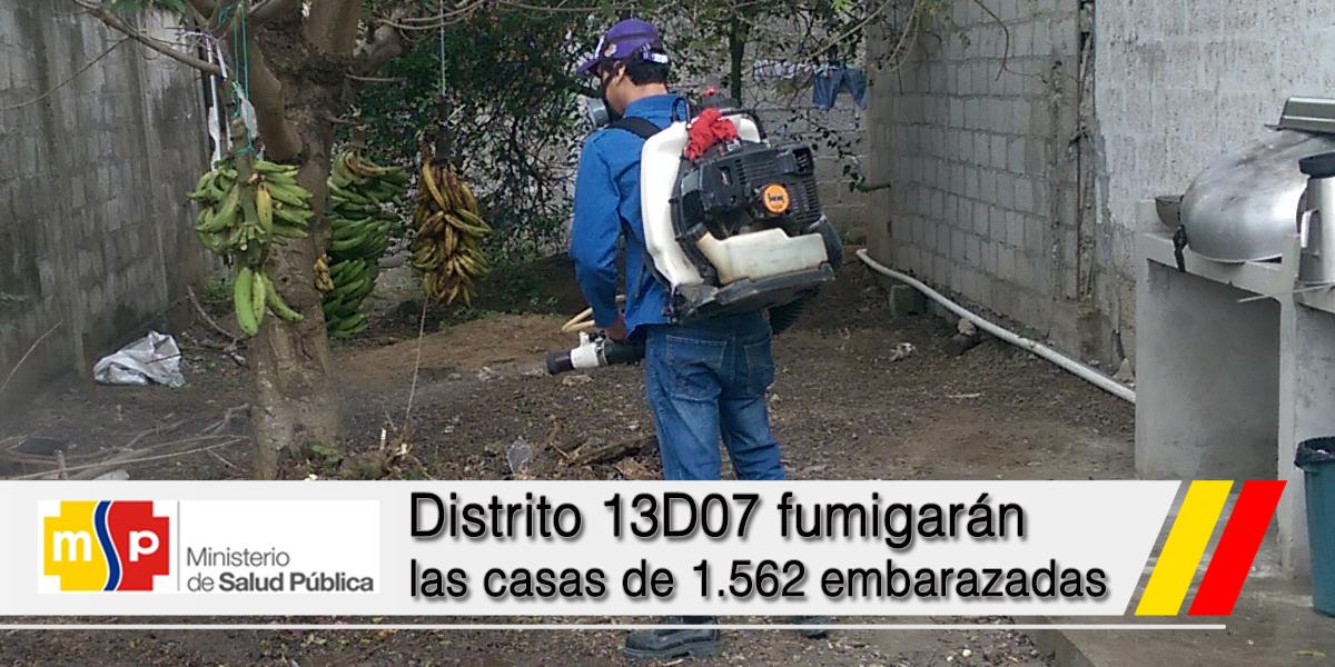 Distrito 13D07 fumigarán las casas de 1.562 embarazadas