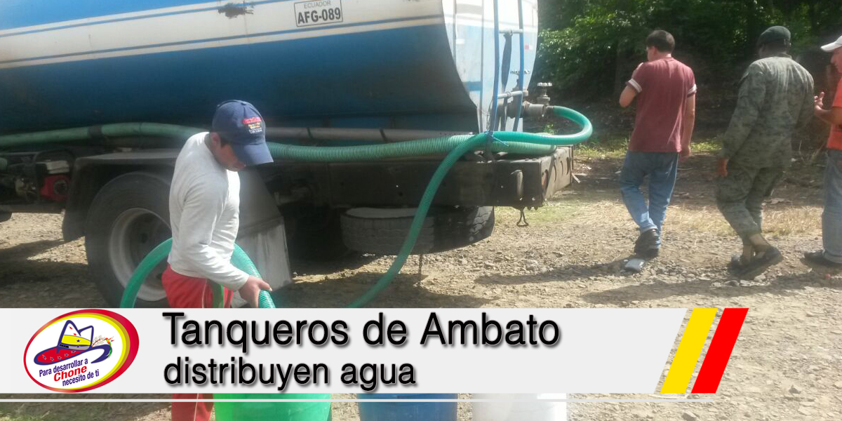 Tanqueros de Ambato distribuyen agua