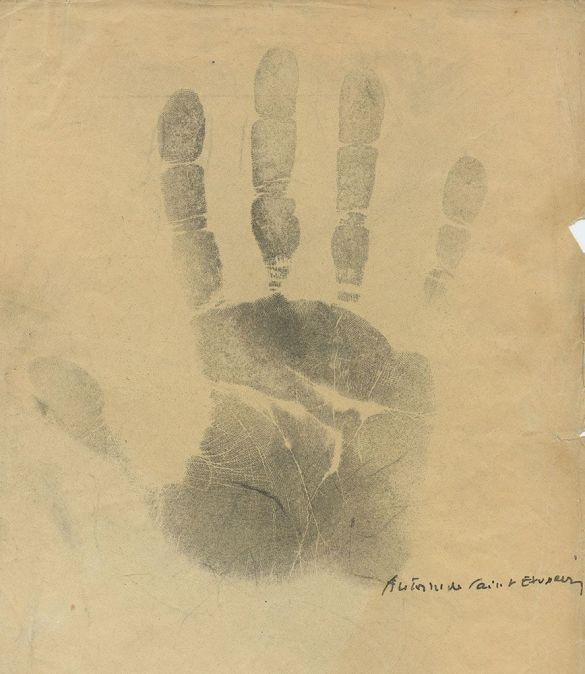 AntoineDeSaint-ExupérySignedHandprint1935CollectionPedroCorrêaDoLago