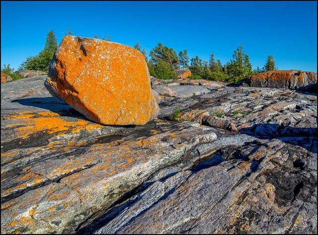 Lichen Encrusted Glacial Erratic, Nikon D600, AF Zoom-Nikkor 18-35mm f/3.5-4.5D IF-ED
