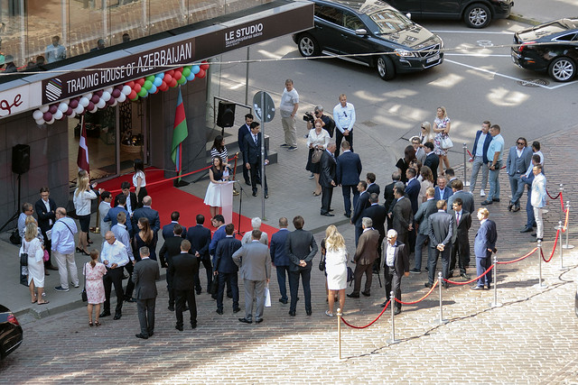 EM parlamentārais sekretārs Jānis Upenieks piedalās Azerbaidžānas Tirdzniecības nama atvēršanā Rīgā