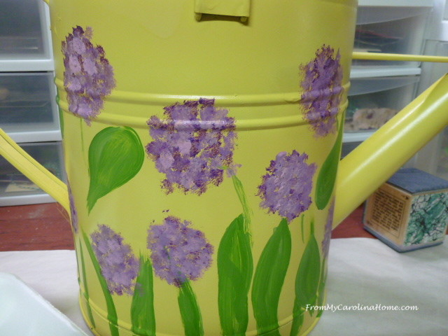Watering Can Makeover at From My Carolina Home