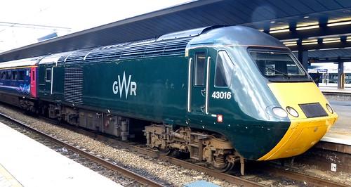 Class 43 'Great Western Railway' No. 43016. HST on Dennis Basford's railsroadsrunways.blogspot.co.uk'