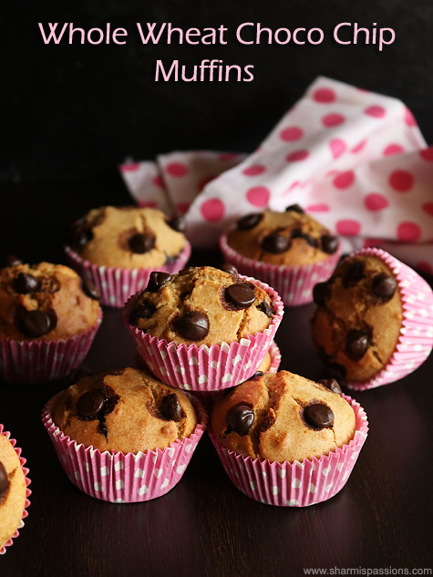 Whole Wheat Chocolate Chip Muffins Recipe