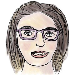 Friends of mine got married and the guests collected recipes for a personal cookbook. Instead of a photo of myself I handed in a quick digital selfportrait. #selfie #portrait #drawing #digitalart #glasses #me #sketch #photoshop #illustration #artstagram