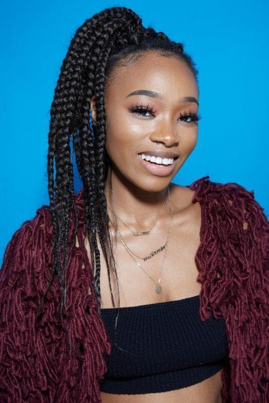 New Jumbo Box Braids 2018 -Top Ways to Wear the Look 4