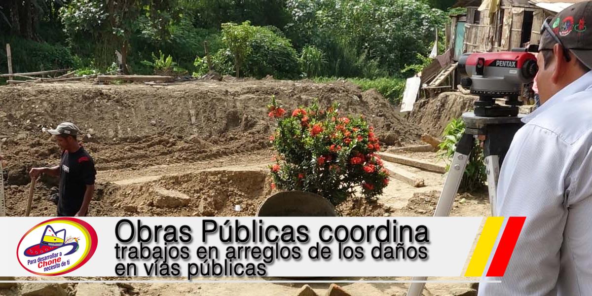 Obras Públicas coordina trabajos en arreglos de los daños en vías públicas