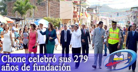 Chone celebró sus 279 años de fundación