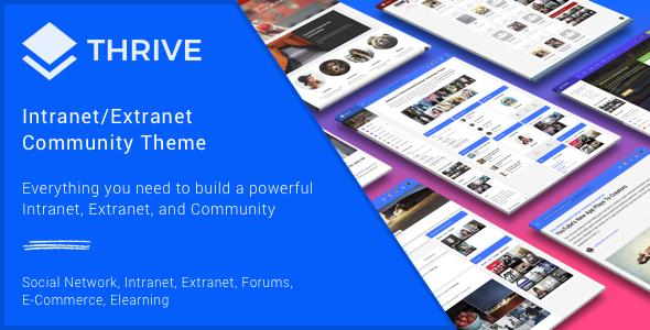 Thrive v3.0.9.1 – Intranet & Community WordPress Theme