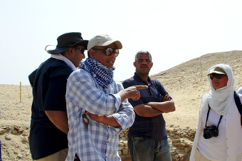 Ramadan Hussein on site at Saqqara in 2016