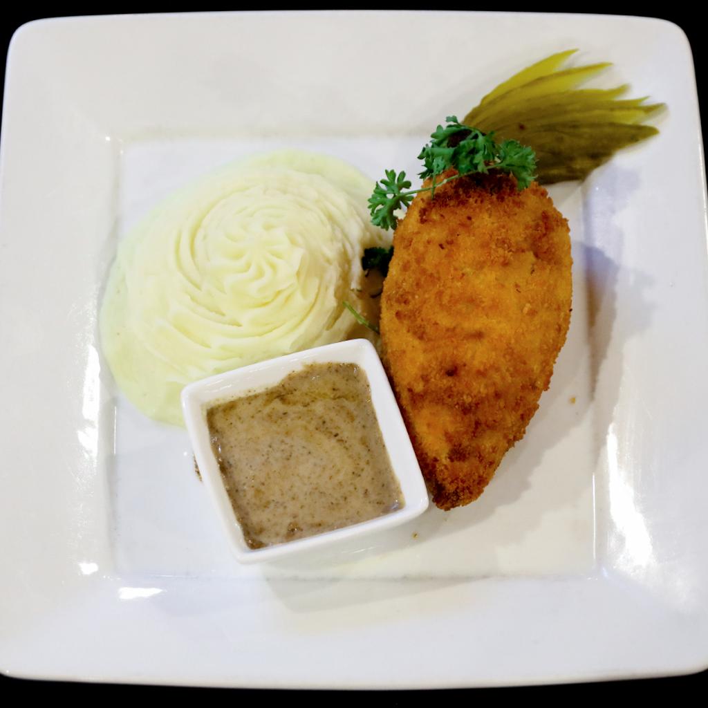 Chicken Kiev via Russian Samovar