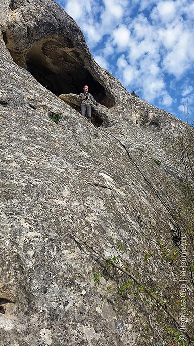 высота пещеры в Инкерманской долине