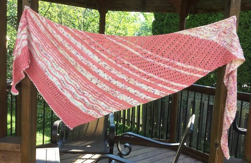 Liz finished her beautiful Local Yarn Shawl!