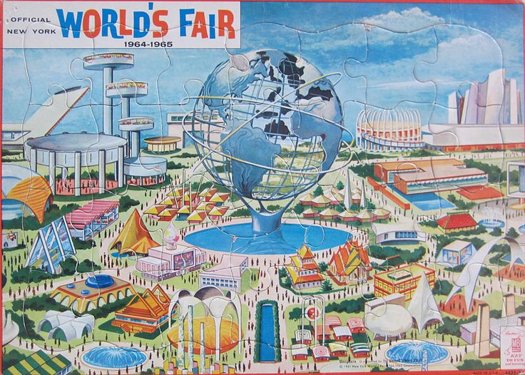 Jigsaw puzzle souvenir produced for the 1964-1964 New York World's Fair.